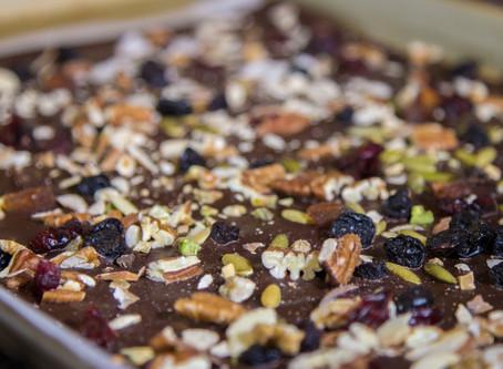Dark Chocolate Bark with Nuts & Fruit