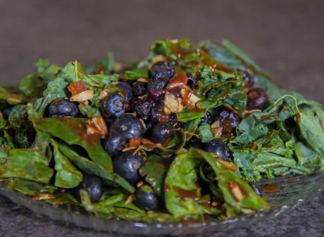Kale Brain Blueberry Salad