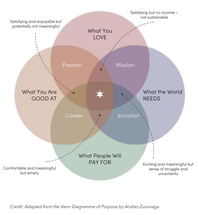 Venn Diagramme of Purpose - Business North Star
