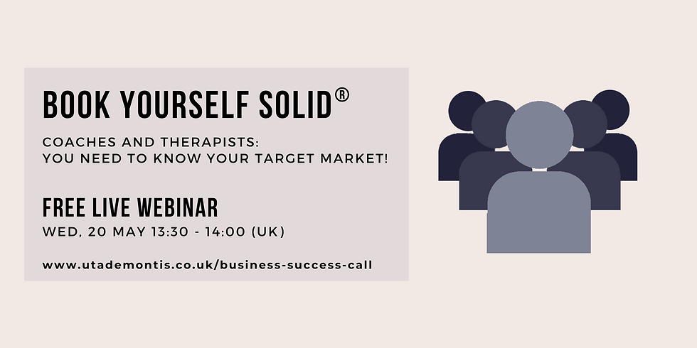 Coaches and Therapists: You Need to Know Your Target Market!