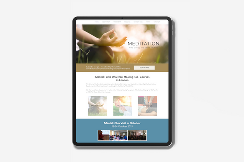 Website Design for Meditation Teacher