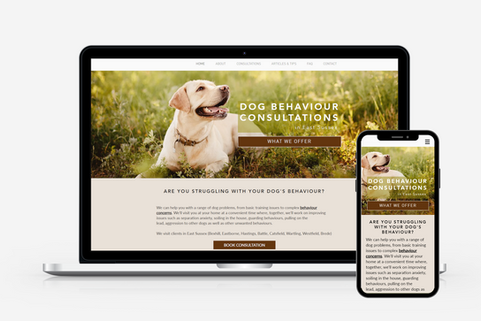 Web Design for Dog Trainers
