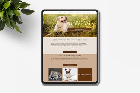 Website Design for Dog Trainers