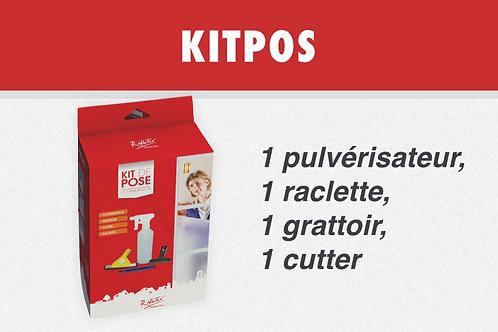 KITPOS - 1 pulvérisateur, 1 raclette, 1 grattoir, 1cutter