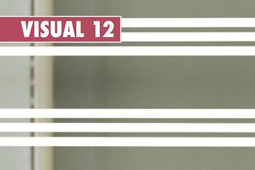 VISUAL 12 - Bandes blanches de 5cm x 10m
