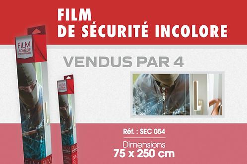 SEC 054 - Film de sécurité incolore