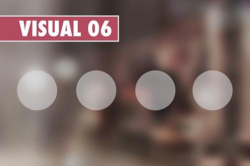 VISUAL 06 - Ronds dépolis de 5 cm par 60