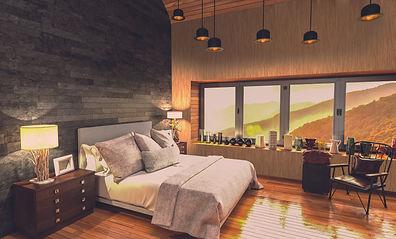 Chambre mur bois et fausses pierres.jpg