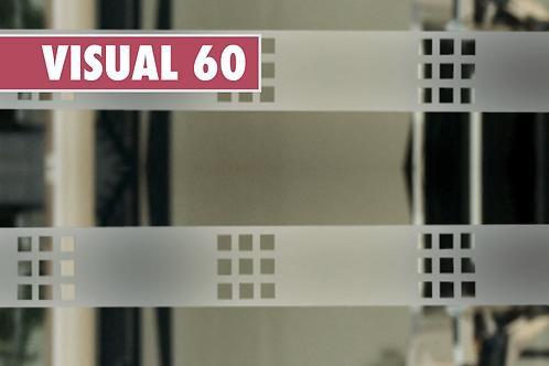 VISUAL 60 - Carrés dépolis de 5cm x 10m