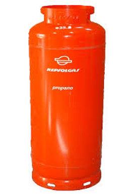 Recarga de gás de 45 kg propano