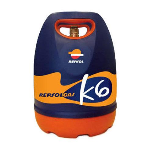 Recarga de gás de 6 kg butano k6