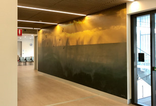 commercial wall mural fit outs