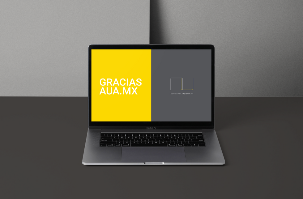 AU Arquitectura logo application