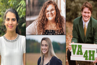 Virginia 4-H honors four members with Youth in Action awards
