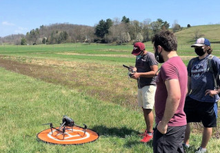 Students use drones to measure soil moisture levels for research project