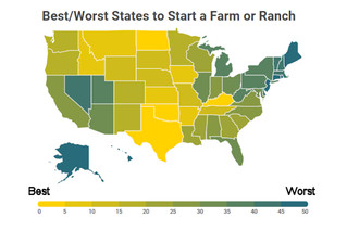 What are the best (and worst) states to start a new farm?