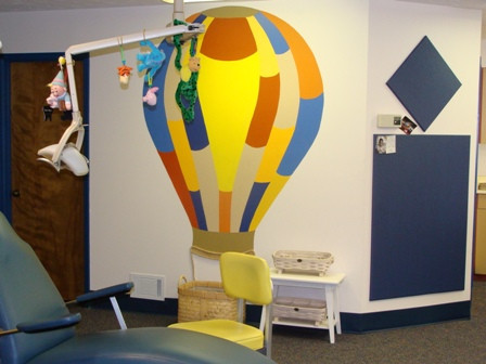 Hygienist's Chair & Prize Balloon