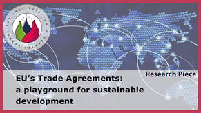 EU's Trade Agreements: a playground for sustainable development