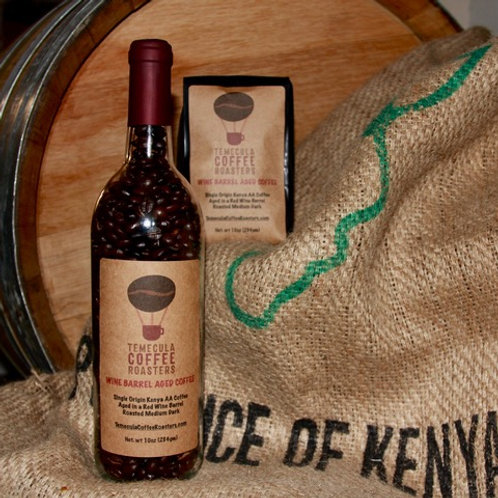 Kenya Single Origin AA aged in a Zinfandel Wine Barrel