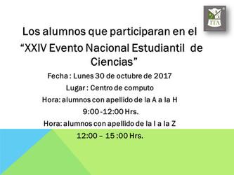 XXIV Evento Nacional Estudiantil De Ciencias