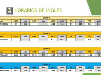 Horarios De Ingles