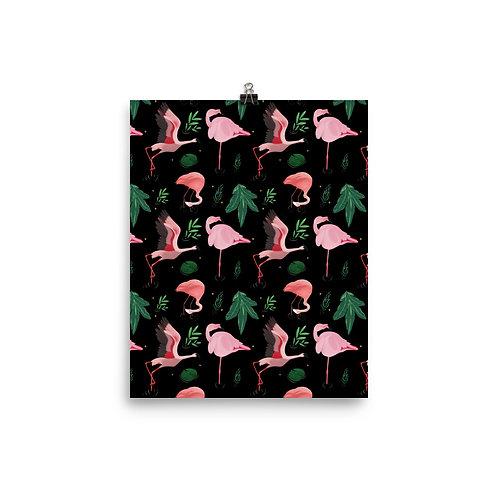 Flimsy Flamingo Matte Poster