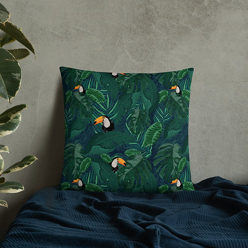 Toucan Tropical Basic Pillow