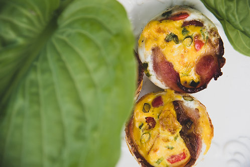 bacon wrapped egg cups, 3 (wed)