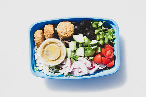 falafel greek salad (wednesday)