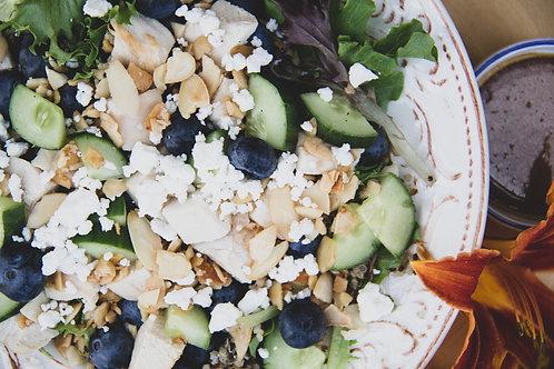 blueberry almond summer salad