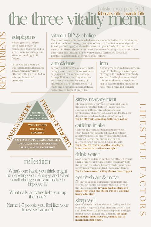 vitality menu guide