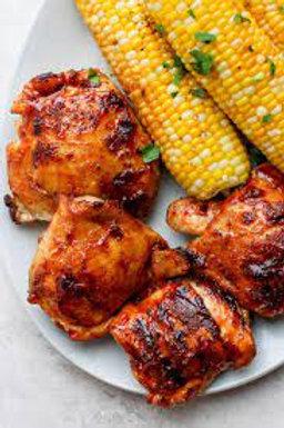 bbq chicken+ corn