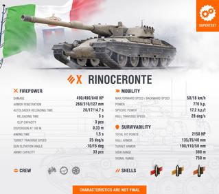 "Italian T10 HT ""Rinoceronte"" into Supertest"