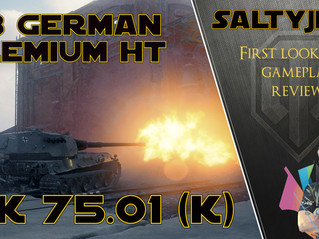 New German T8 Premium Heavy Tank - VK 75.01 (K), Gameplay and Review
