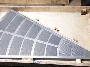 щелевое сито для фильтр чана. гидроабразивная резка. Новосибирск