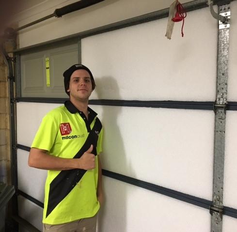 Whisper panels to metal garage door 3.JP