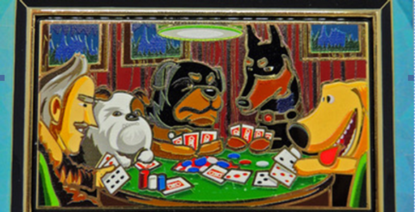 HOLD 'EM UP - DOGS PLAYING POKER