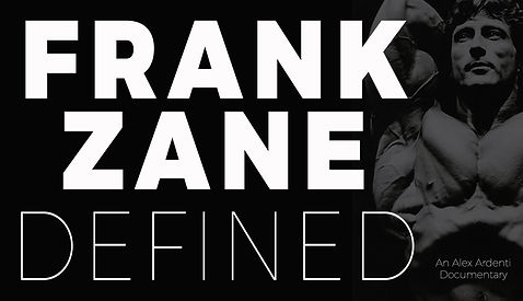 Frank Zane Defined Alex Ardenti banner 1