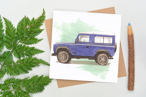 Square Land Rover Card