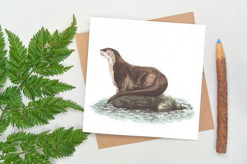 Square Otter Card