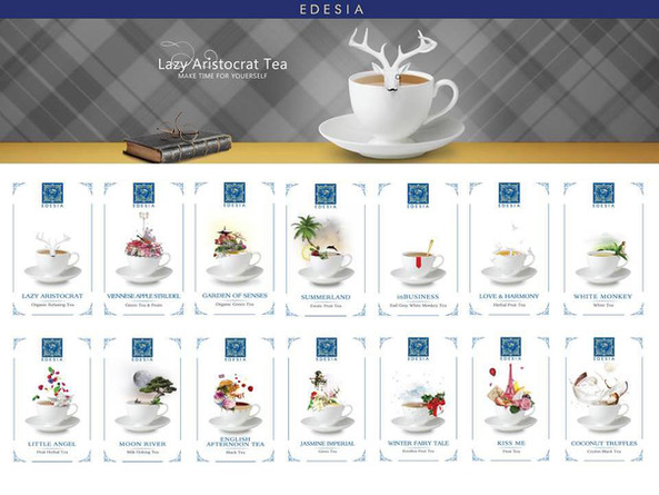 "Tea packaging illustration ""Edesia"""