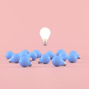 minimal-conceptual-idea-light-bulb-float