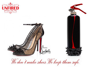 "Inspired by Laboutin shoes, illustration for ""Unfired"""
