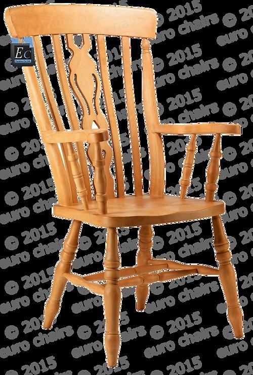 Farmhouse Fiddle Back Grandad Chair: