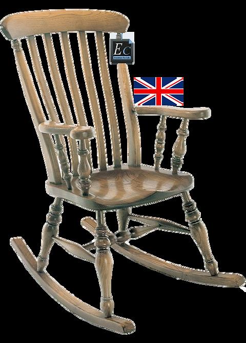 Solid Ash Farmhouse Rocking Chair: