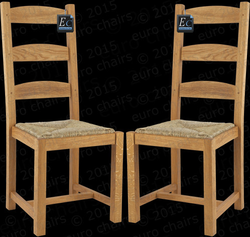 french country ladderback chair classic french country chair made in solid oak size cm 105h x 45w x 50d rush seat traditional french oak design