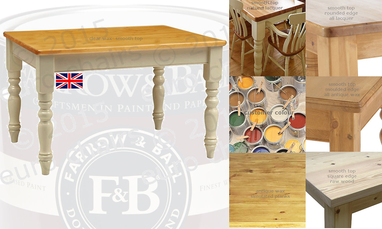 SOLID PINE FARMHOUSE TABLES: MADE IN EAST SUSSEX: *FREE DELIVERY* Our  Quality Handmade Solid Pine Tables Can Be Easily Customized: .
