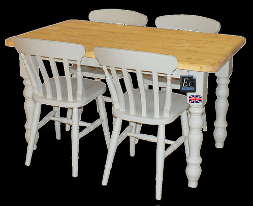 SOLID PAINTED PINE FARMHOUSE TABLES: MADE IN EAST SUSSEX: *FREE DELIVERY*  Our Quality Handmade Solid Pine Tables Can Be Easily Customized: .