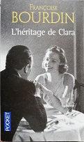 """Françoise Bourdin """"L'héritage de Clara"""""""