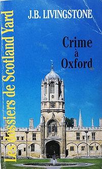 """J.B Livingstone """"Crime à Oxford"""""""